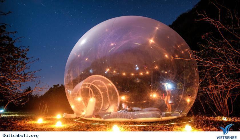 Hot nhất tại Bali: Tắm lộ thiên tại khách sạn bong bóng